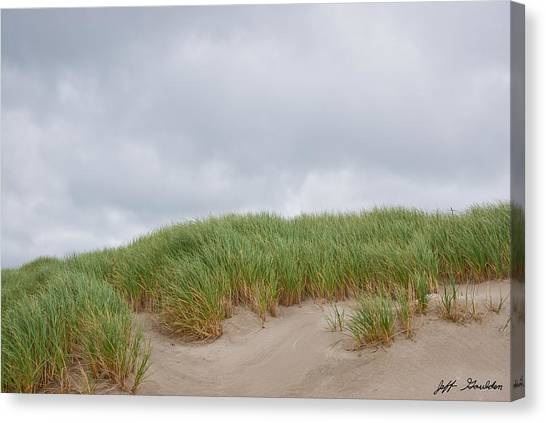 Sand Dunes And Grass Canvas Print