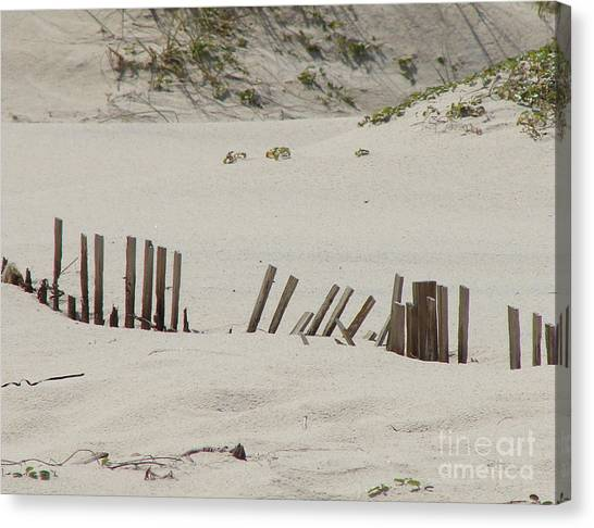 Sand Dunes At Gulf Shores Canvas Print