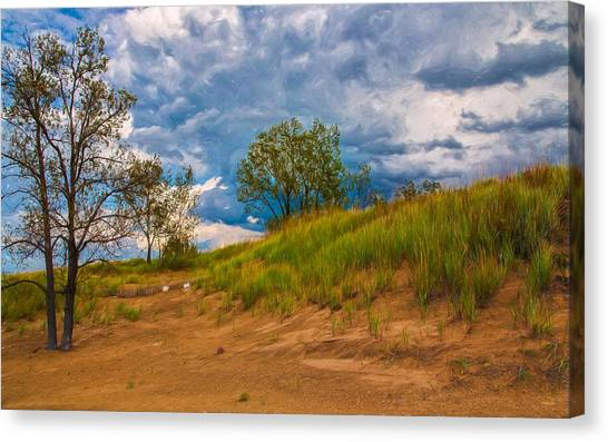Sand Dunes At Indian Dunes National Lakeshore Canvas Print