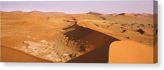 Namib Desert Canvas Print - Sand Dunes In A Desert, Namib-naukluft by Panoramic Images