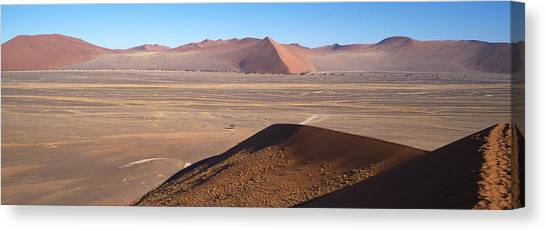 Namib Desert Canvas Print - Sand Dunes In A Desert, Sossusvlei by Panoramic Images