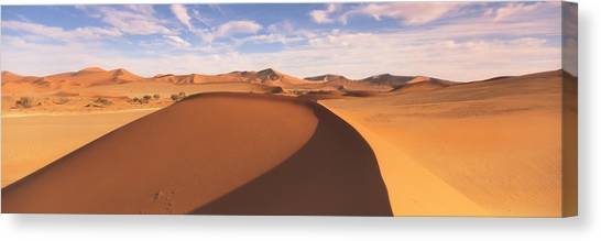 Namib Desert Canvas Print - Sand Dunes In An Arid Landscape, Namib by Panoramic Images