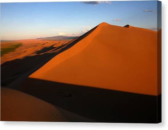 Gobi Desert Canvas Print - Sand Dunes In The Gobi Desert by David Santiago Garcia