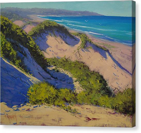 Dunes Canvas Print - Sand Dunes Oil Painting by Graham Gercken
