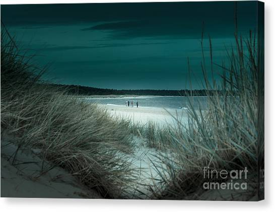 Sand Dunes On The Baltic Coast Of Oland At Boda Sand Sweden Canvas Print
