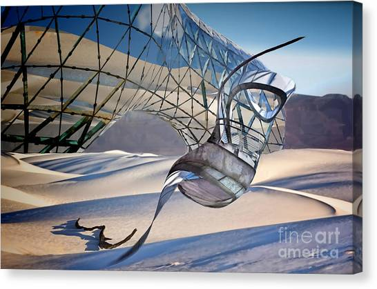 Sand Incarnations With Dali Canvas Print