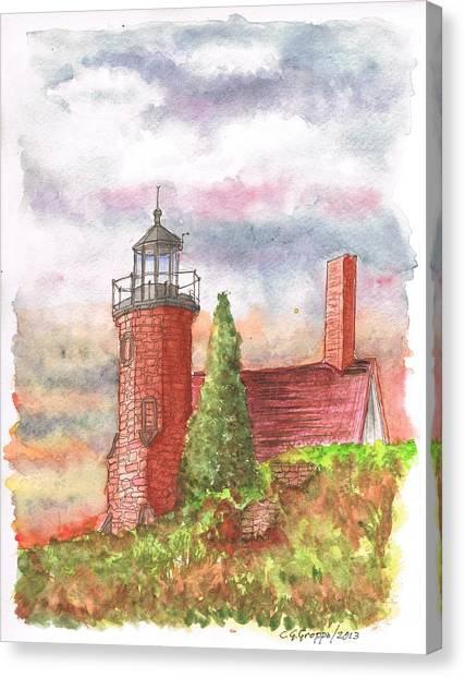 Sand Island Lighthouse - Wisconsin Canvas Print