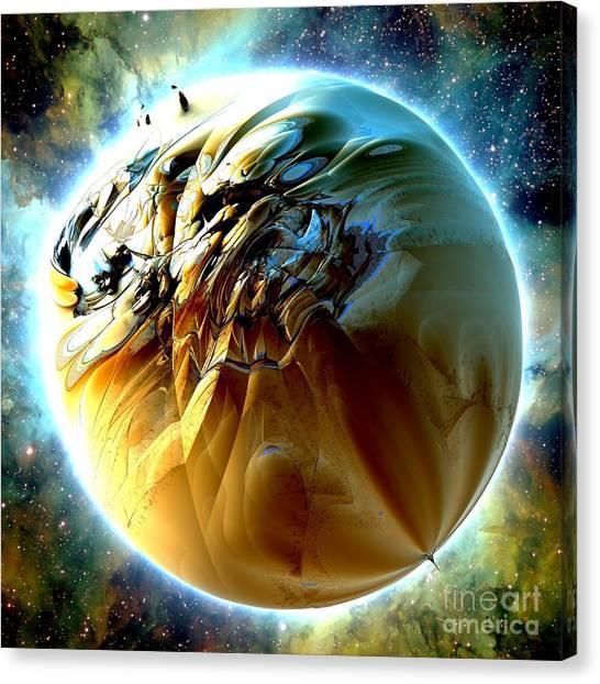 Sand Planet Canvas Print by Bernard MICHEL