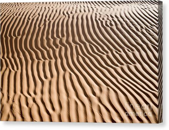 Sahara Desert Canvas Print - Sand Ripples by Delphimages Photo Creations