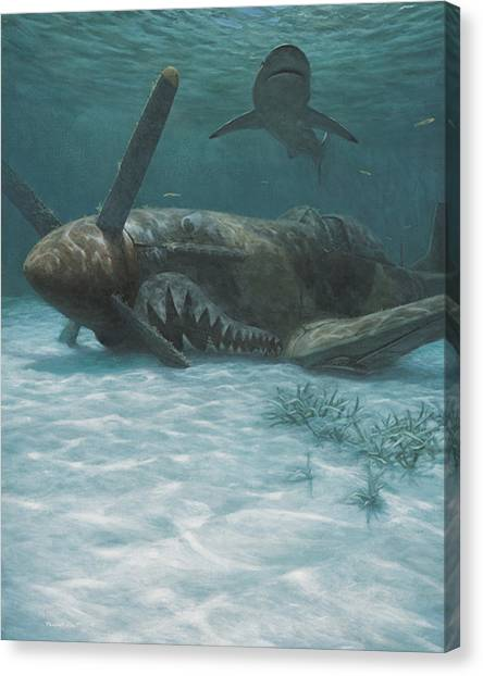Scuba Diving Canvas Print - Sand Shark by Randall Scott