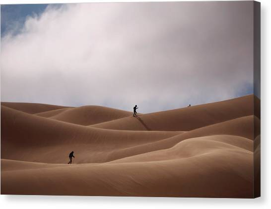 Sand Skiing Canvas Print