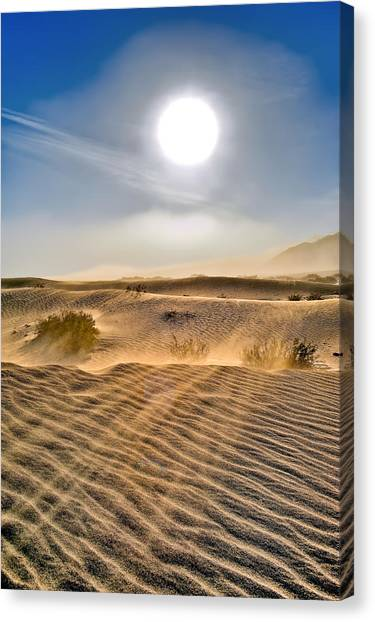 Sand Storm In The Mesquite Dunes 2 Canvas Print