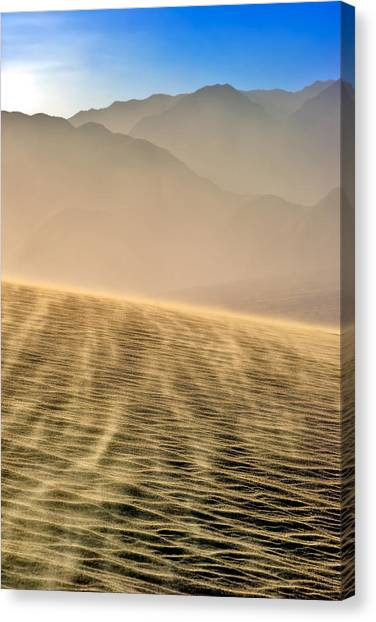 Sand Storm In The Mesquite Dunes Canvas Print