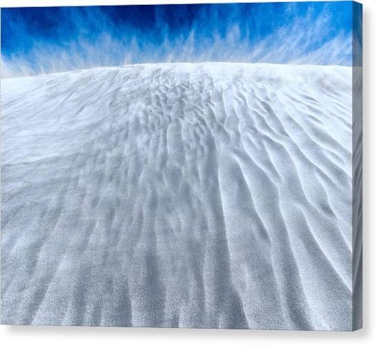 Sand Storm On The Horizon Canvas Print