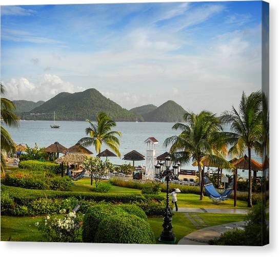 Canvas Print featuring the photograph Sandals St. Lucia by Joe Winkler