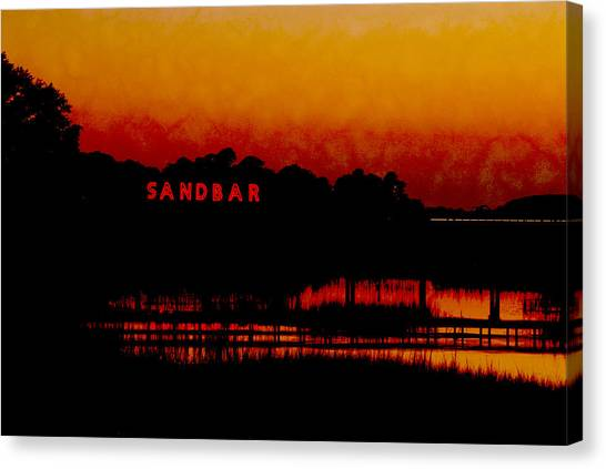 Sandbar Beach Bar Canvas Print