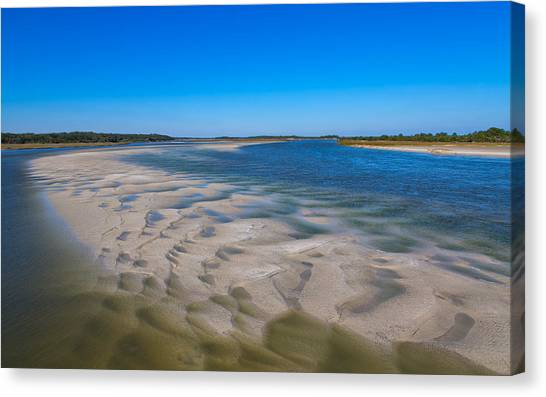 Sandbars On The Fort George River Canvas Print