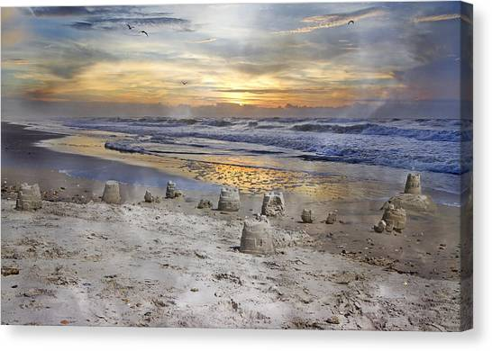 Sand Castles Canvas Print - Sandcastle Sunrise by Betsy Knapp