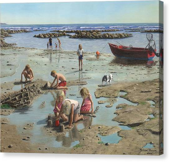 Sand Castles Canvas Print - Sandcastles by Richard Harpum