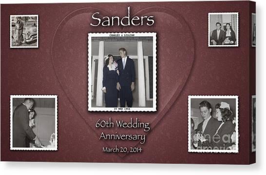 Sanders 60th Anniv Canvas Print