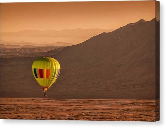 Hot Air Balloons Canvas Print - Sandia Peak by Keith Berr