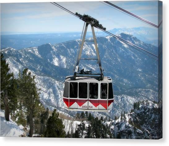 Sandia Peak Tramway Winter Canvas Print