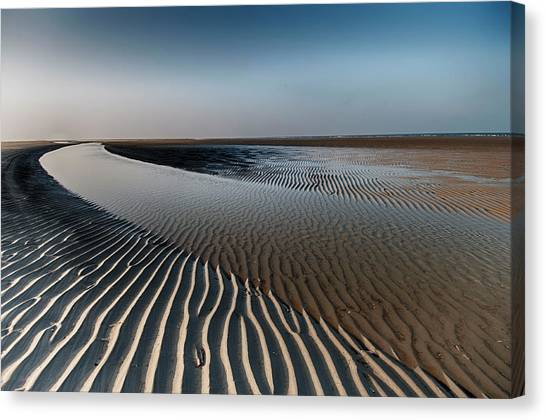 Clay Canvas Print - Sandlines by Tineke Visscher