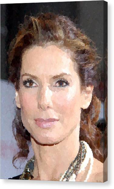 Sandra Bullock Portrait Canvas Print