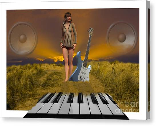 Sands Of Music Canvas Print