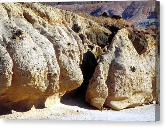 Sandstone Erosions Dry River Bed Canvas Print