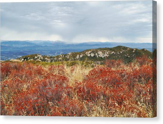 Sandstone Peak Fall Landscape Canvas Print