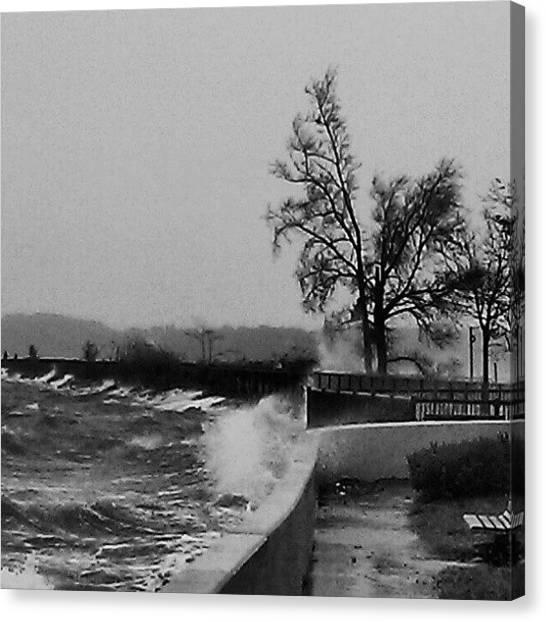 Hurricanes Canvas Print - Sandy At The Sugar Bowl by Nick Hansen