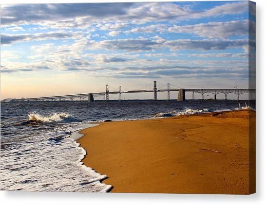 Sandy Bay Bridge Canvas Print