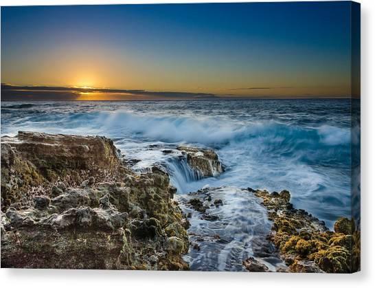 Sandy Beach Sunrise Canvas Print