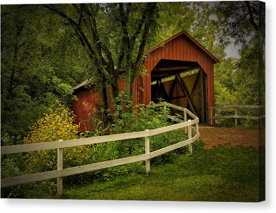 Sandy Creek Bridge Near Hillsboro Mo Dsc06888 Canvas Print