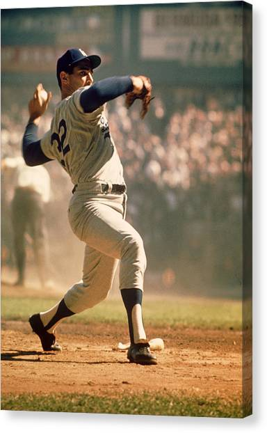 Mlb Canvas Print - Sandy Koufax  by Retro Images Archive