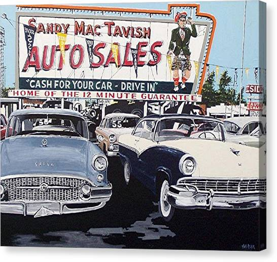 Sandy Mactavish Canvas Print by Paul Guyer