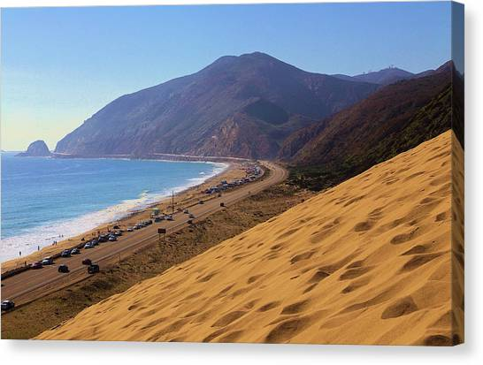 Sandy Mugu Point Looking North Canvas Print