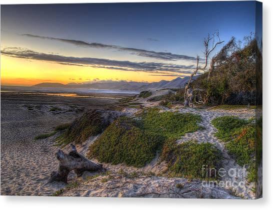 Sandy Sunset Beach Canvas Print