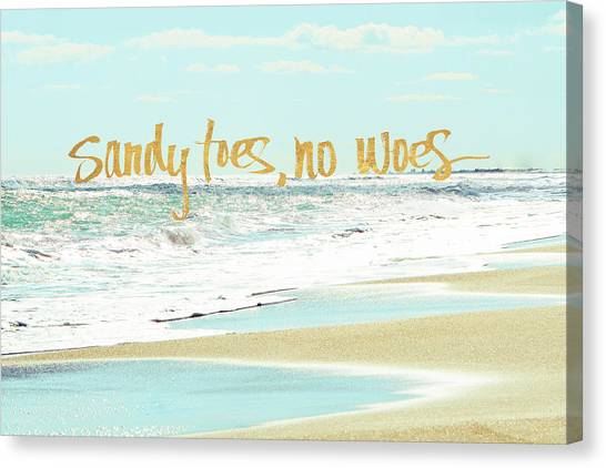 Toes Canvas Print - Sandy Toes, No Woes by Bruce Nawrocke