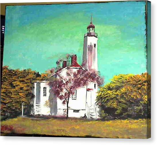 Sandyhook Light House Canvas Print by M Bhatt