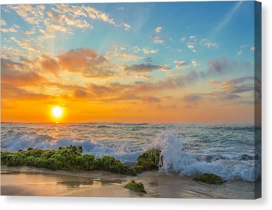 Sandy Beach Sunrise 3 Canvas Print