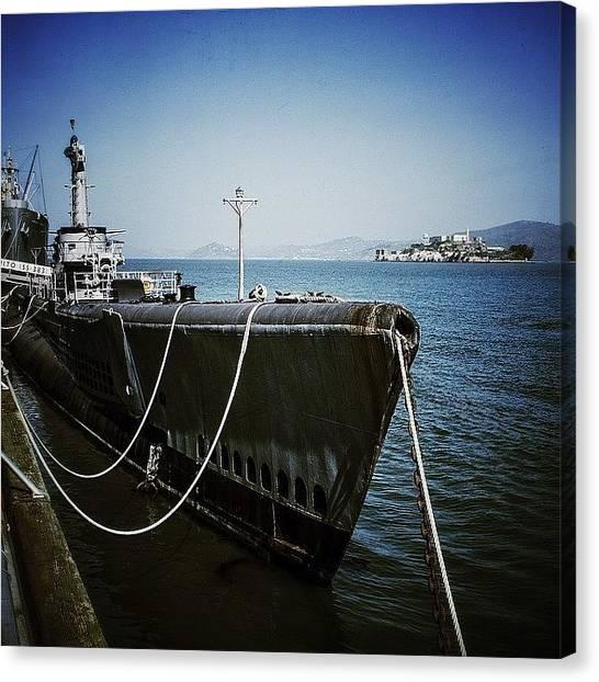 Submarine Canvas Print - #sanfrancisco #submarine #alcatraz by Markus Kantonen