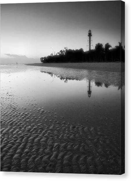 Sanibel Lighthouse And Beach II Canvas Print