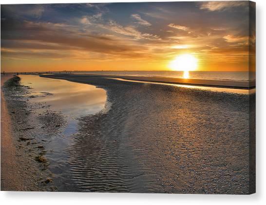 Sanibel Sunrise Xxi Canvas Print by Steven Ainsworth