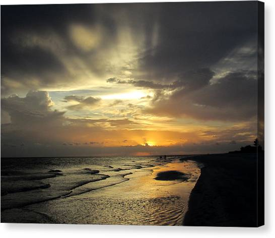 Sanibel Sunset Canvas Print by Rosie Brown