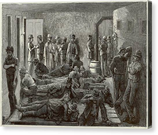 Outbreak Canvas Print - Sanitary Precautions Against Smallpox by Frank Leslie's Illustrated Newspaper /new York Public Library