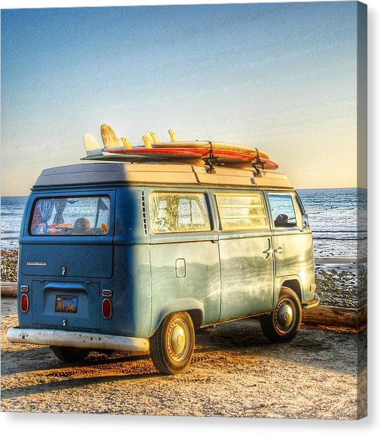 Vw Bus Canvas Print - Sano Vw Bus by Hal Bowles
