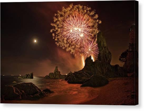 Fireworks Canvas Print - Sant Joan Feast by Jordi Gallego