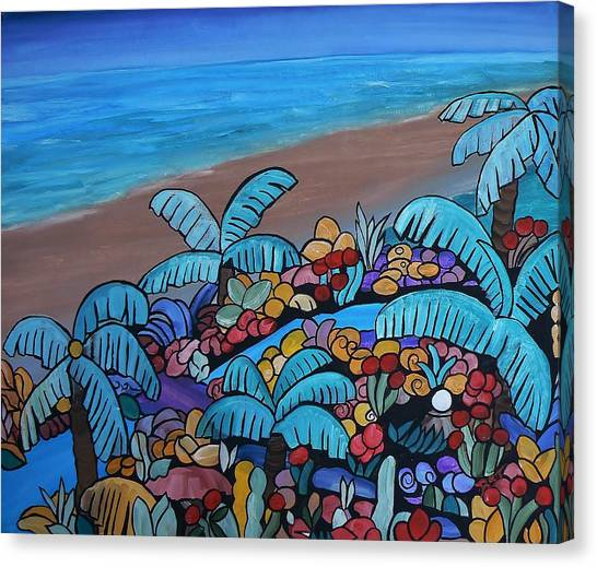 Santa Barbara Beach Canvas Print